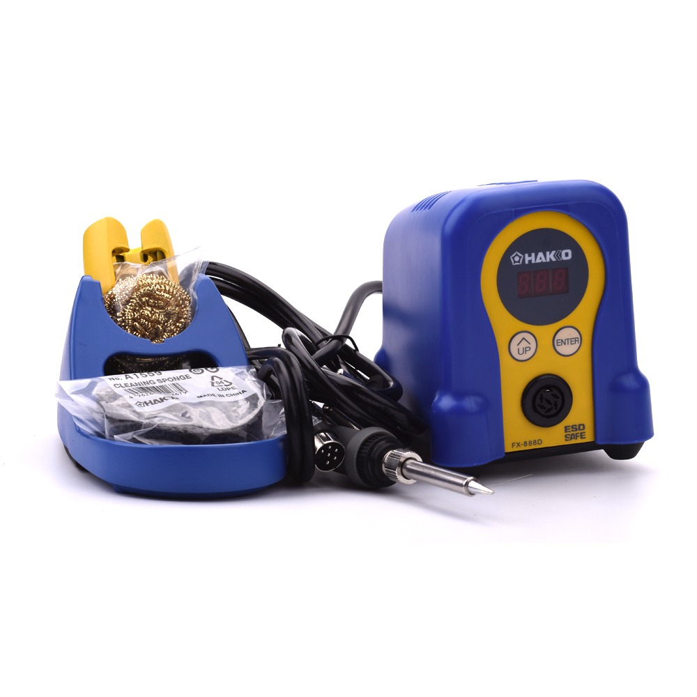 70W 110V Hakko FX888D digital display soldering station+Hakko FX8801 soldeirng iron+Hakko T18 soldering tips dhl free shipping hot sale 220v hakko fx 888 fx888 888 solder soldering iron station with 10 free tips 900m t