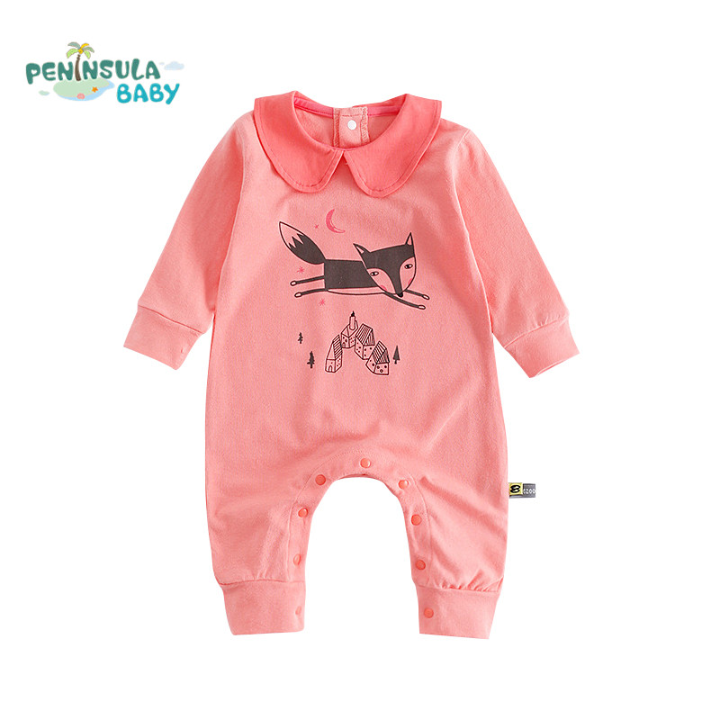 Cartoon Fox Baby Rompers Pajamas Newborn Baby Clothes Infant Cotton Long Sleeve Jumpsuits Boy Girl Warm Autumn Clothes Wear cotton baby rompers set newborn clothes baby clothing boys girls cartoon jumpsuits long sleeve overalls coveralls autumn winter