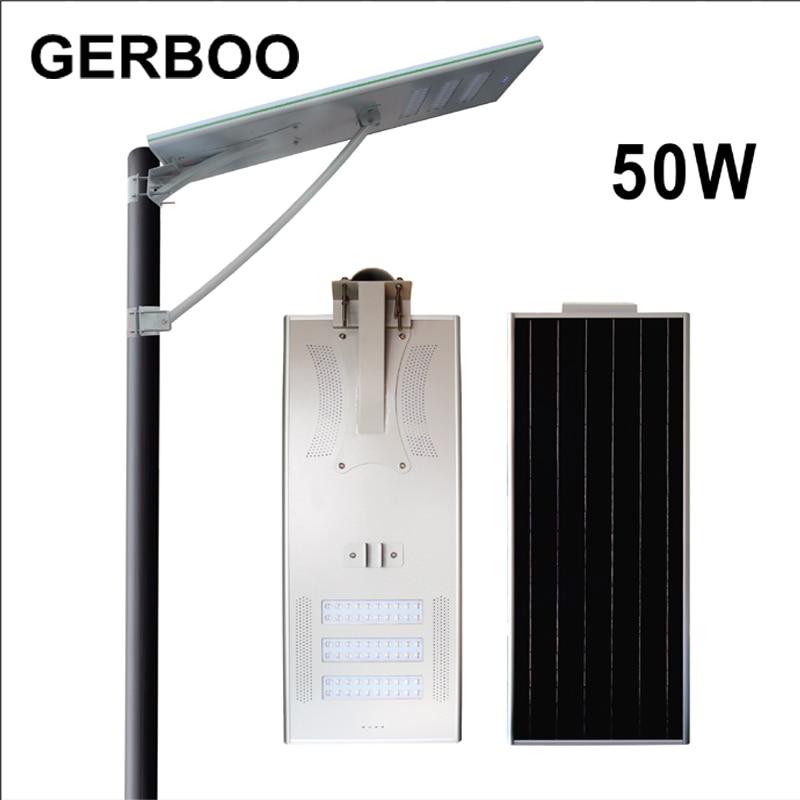 Satisfactory Prices Of Solar Street Light/Solar Street Lamp 50W IP66 With Bridgelux LED Chip