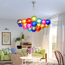 led chandelier Nordic creative colorful bubble ball living room lamp modern minimalist corridor restaurant bedroom lamp avize стоимость