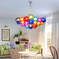 led chandelier Nordic creative colorful bubble ball living room lamp modern minimalist corridor restaurant bedroom lamp avize