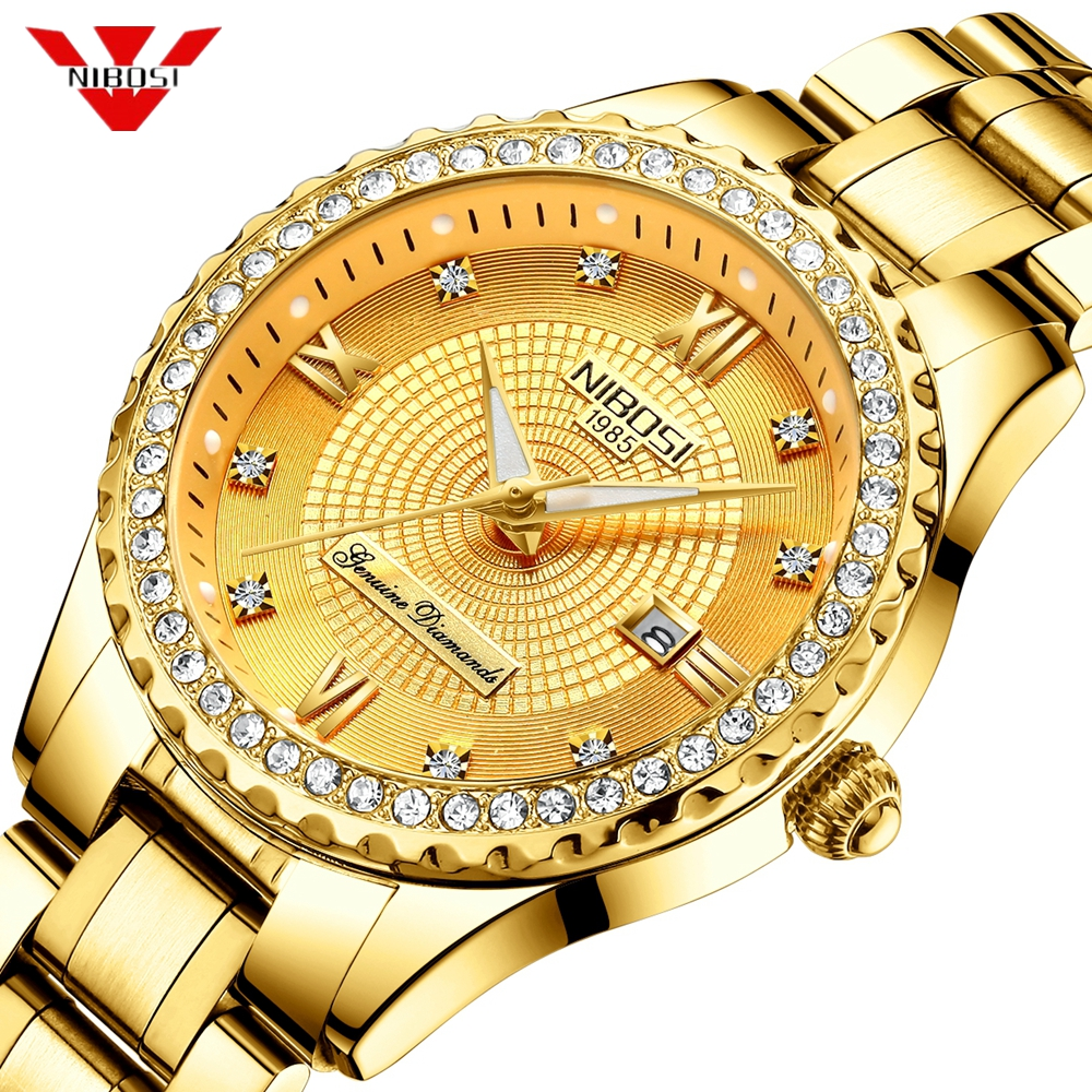 NIBOSI Lovers Watch Relogio Feminino Men Watches Top Brand Luxury Women Watch Gold Quartz Gift Clock Ladies Dress Wristwatch цена 2017
