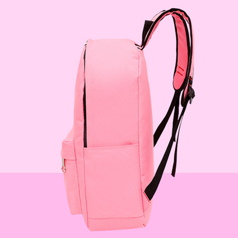 4pcs/set Women Backpack Cat Printing Canvas School Bags For Teenager Girls Preppy Style Rucksack Cute Book Bag Mochila Feminina #5
