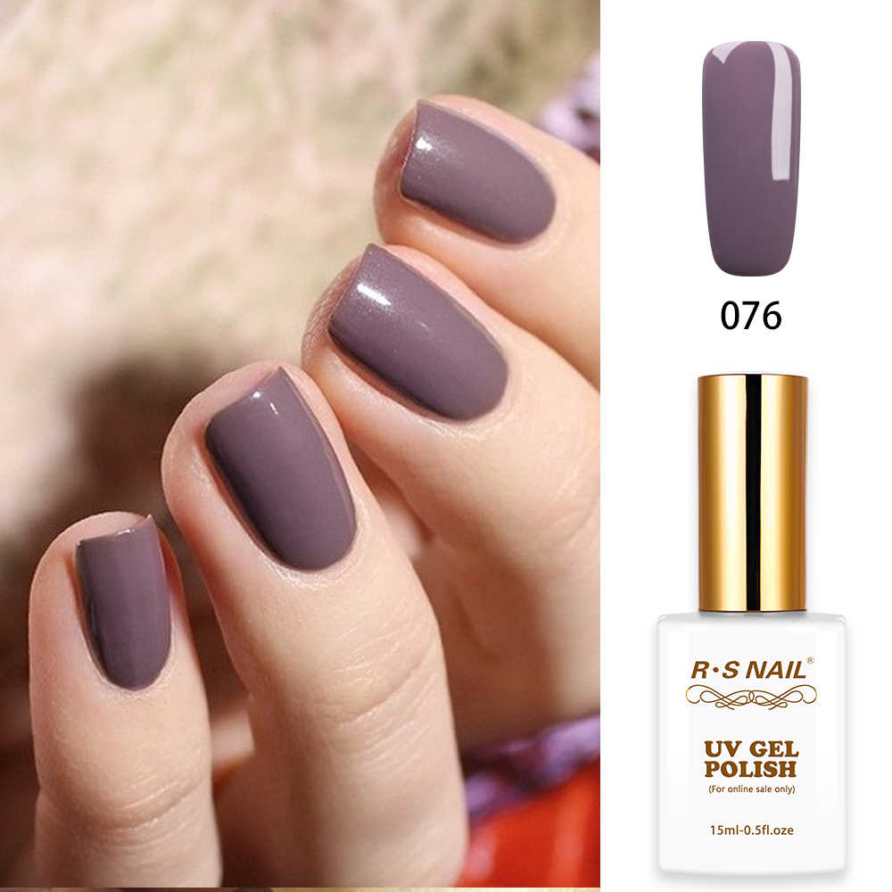 Rs Nail 15ml Led Uv Color Gel Nail Polish No 076 French Manicure