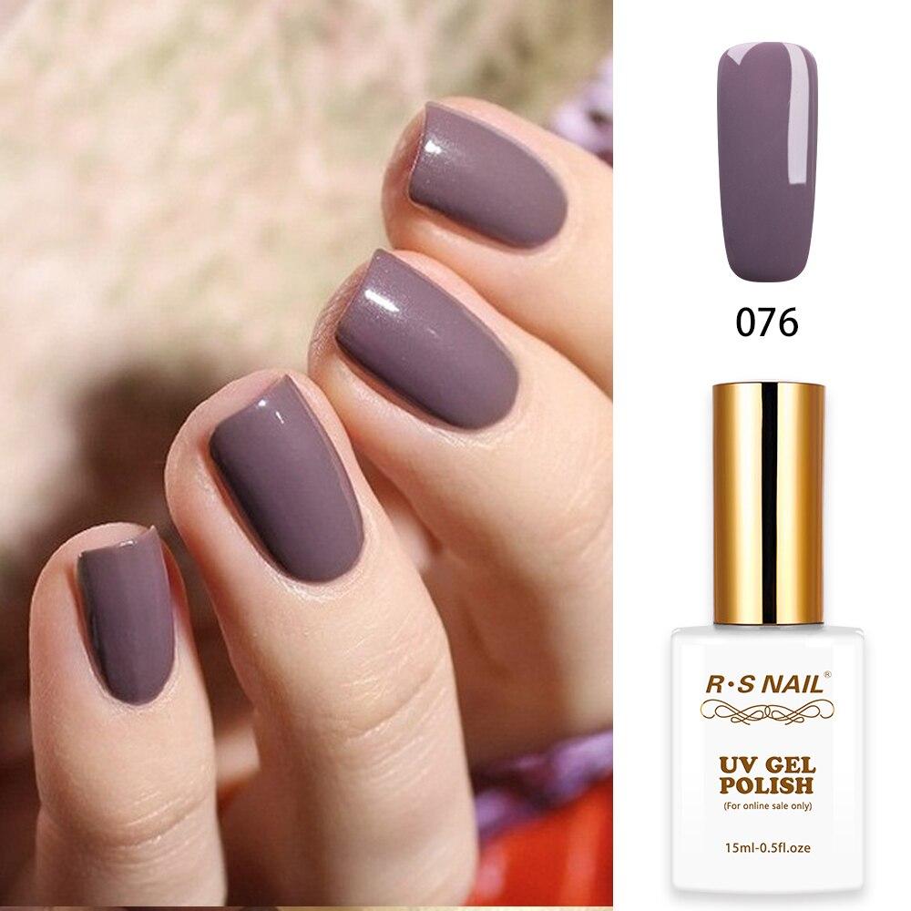 Rs Nail: RS Nail 15ml Led Uv Color Gel Nail Polish No.076 French