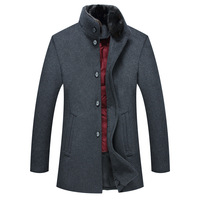 White Duck Down Liner Real Fur Collar Winter Cloths For Men High Quality Thick Warm Mens Coats