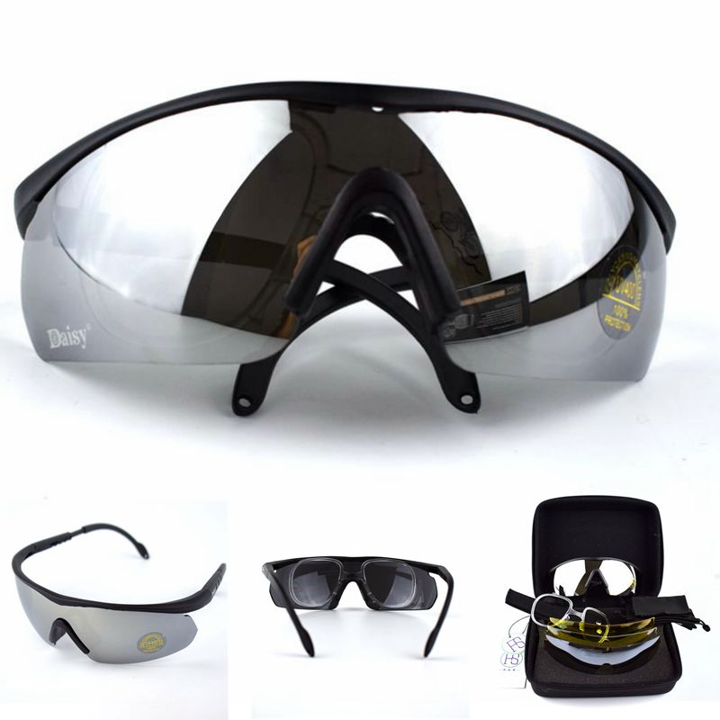 Military Tactical C2 Hunting Shooting Camping Hiking Goggles Men Outdoor Sport UV400 Protection Sunglasses Tactical Glasses
