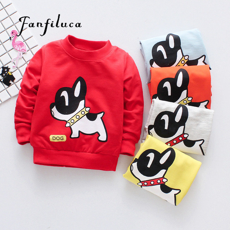 Fanfiluca Dog Pattern Cotton Boys T shirts For Baby Girl Spring Long Sleeve Kids Choths Tees Baby Boys T-shirts Cute Tops ad cute solid color kids t shirts 100