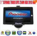 """7 """"Car truck veículo navegador GPS de Navegação Automóvel mtk ce6.0 800 Mhz 256 M 8 GB gps mapa navitel/espanol/reino unido/Europa/EUA/espanhol"""