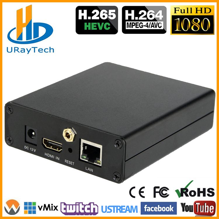 DHL gratis forsendelse HEVC H.265 / H.264 HDMI Video Encoder / Transmitter Live Broadcast Encoder Support RTSP RTMP For Live Streaming