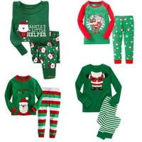 Syue Moon Boys Pajamas Sets 2017 Kids Christmas Pyjamas Children 100 Cotton Sleepwear Baby Girl Homewear