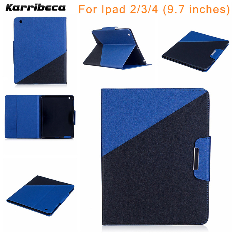 Combo color PU leather cover for For apple Ipad 2/3/4 tablet case coque etui husa kryt funda tok puzdra carcasa kilifi for apple ipad air case flip stand cover pu leather leopard series rotate protective tablet cover coque funda capa