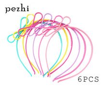 6PCS Bow Headband boy girls Hair Hoop Supplies for Party AccessoriesHeadwear(Multi color)