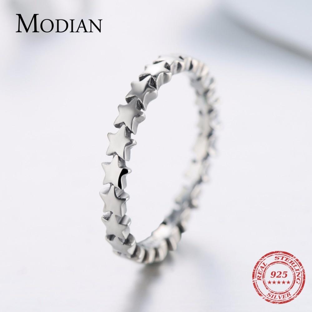 Moidan Orijinal Ulduz Real 925 sterlinq gümüş zərgərlik izi - Moda zərgərlik - Fotoqrafiya 6