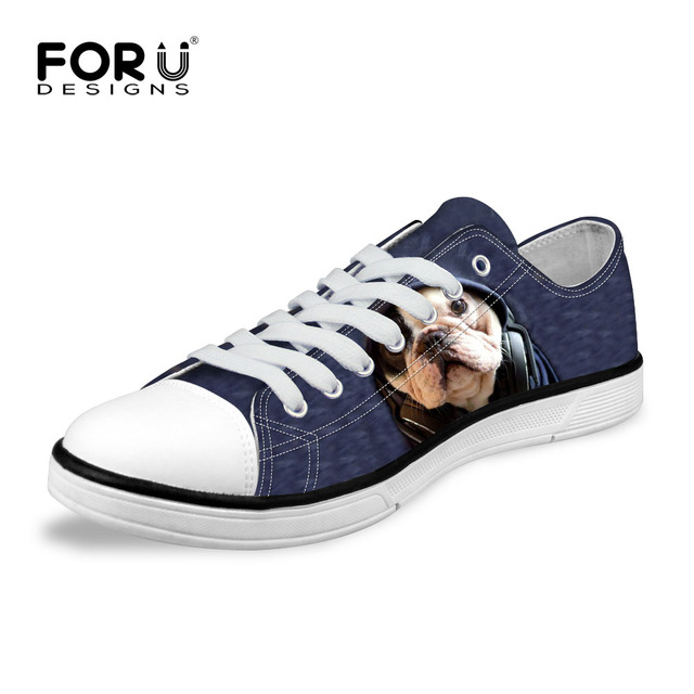 FORUDESIGNS 2017 Fashion Women Classic Vulcanize Shoes Cute 3D Pet Dog Printing  Casual Low Style Canvas 692accdc03ad