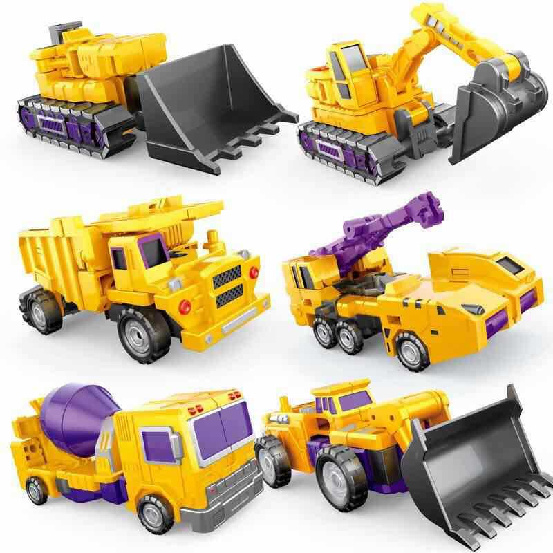 WJ Transformation 6 in 1 Oversize G1 Devastator Action Figures Toy KO DX9 Robot Car Model Truck kid Boy Toys Gifts