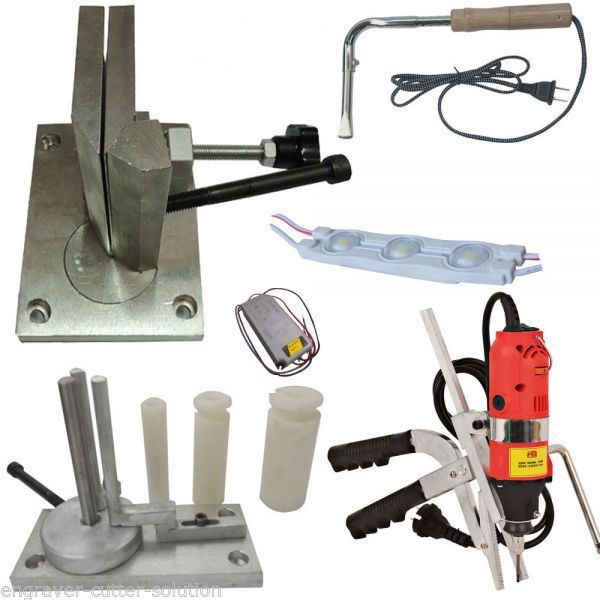 Metal Channel Letter Making Tool, Bender + Slotter + LED Module + Power supplyMetal Channel Letter Making Tool, Bender + Slotter + LED Module + Power supply