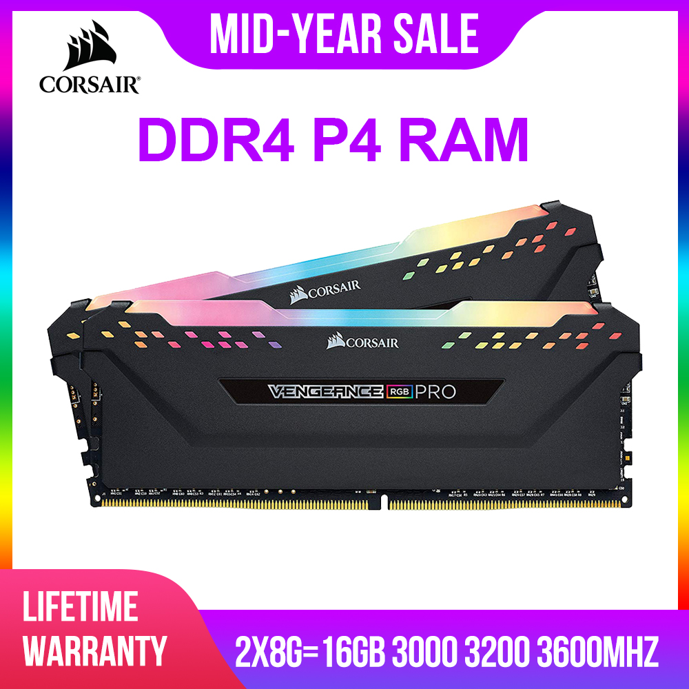 CORSAIR DDR4 P4 8 MHz 3000 GB de RAM 3200 MHz RGB PRO Suporte de Memória DIMM de Desktop motherboard 8g 16g ddr4 3000 Mhz rgb 16 gb 32 ram gb