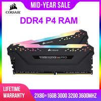 CORSAIR DDR4 P4 RAM 8 GB 3000 MHz 3200 MHz RGB PRO DIMM ordinateur de bureau de mémoire Support carte mère 8g 16g ddr4 3000 Mhz rgb ram 16 gb 32 gb