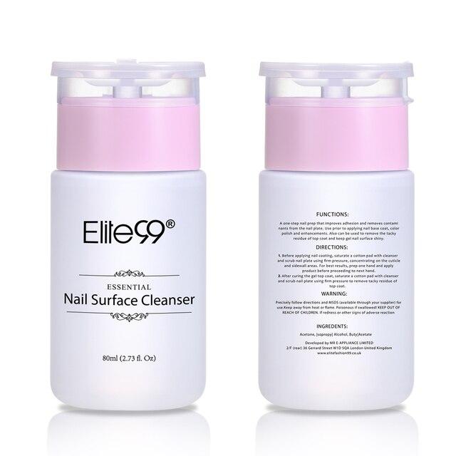 Elite99 Nagel Oberfläche Reiniger UV Gel Nagellack Klebrige Entferner Flüssigkeit Verbessern Glänzende Wirkung Reiniger Nail art Remover Tool