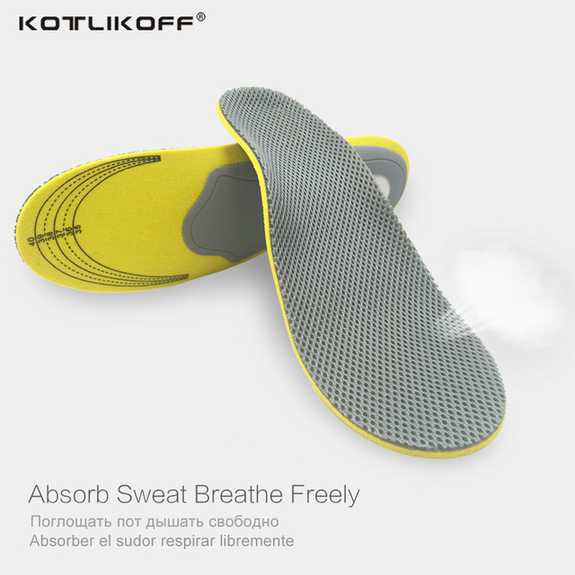 KOTLIKOFF Premium Gel High Arch Support Insoles Gel Pad 3D Arch Support Flat Feet For Women / Men orthopedic insole Foot pain