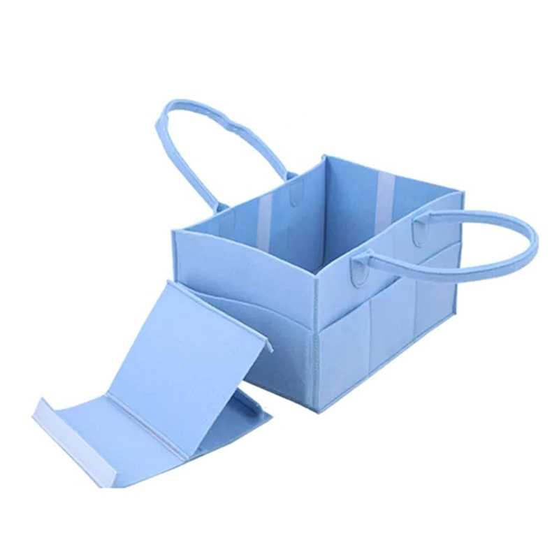 b4cdf823bc5a 1Pcs Foldable Felt Storage Bag Diaper Bag Portable Mommy Baby Nappy Bag  Travel Baby Diaper Organizer
