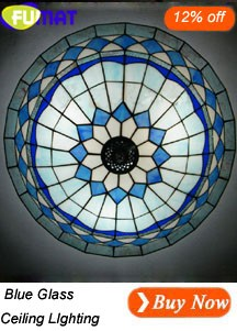 Blue Glass Ceilling Lighting