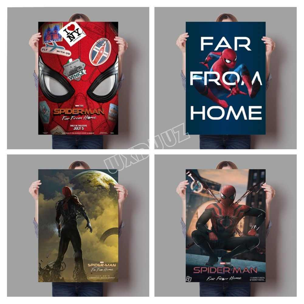 Spider Man Far From Home Painting Superhero Spiderman Poster And Print Nursery Kids Room Wall Art Canvas Painting K221