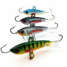 4pcs 60mm 10g Fishing Lure winter Ice Fishing Hard Bait Minnow Pesca Tackle Isca Artificial Bait Crankbait Swimbait 043