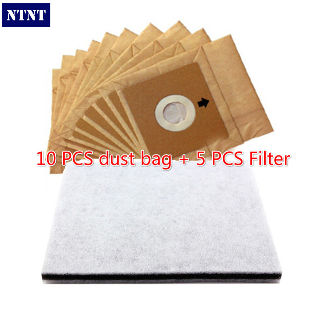 NTNT Free Post New 10 pcs paper dust bag 5pcs filter suitable model for philips for LG Electrolux dust bag цена