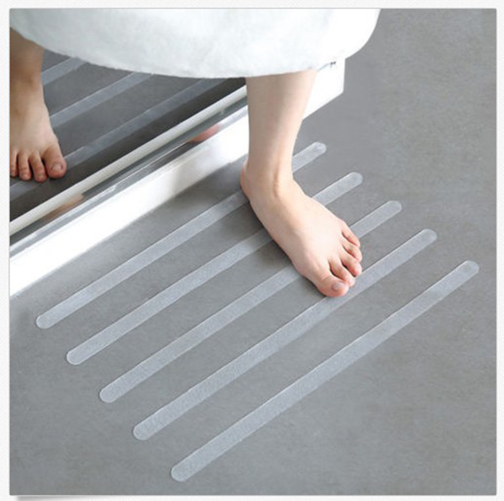 12Pcs/6pcs Anti Slip Bath Grip Stickers Non Slip Shower Strips Stick Flooring Home Safety Tools Bathing Bathroom Accessories