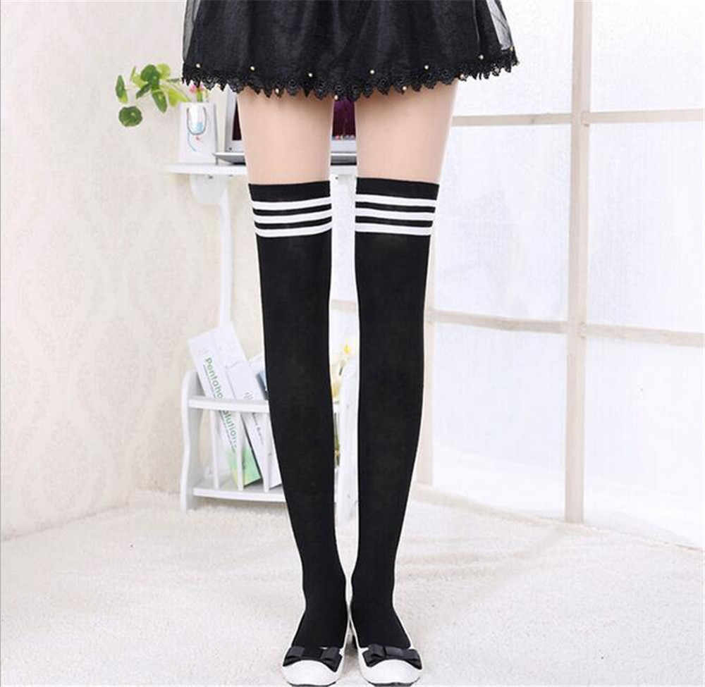 Feitong/популярные модные удобные осенне-зимние теплые женские вязаные ботфорты выше колена, высокие носки