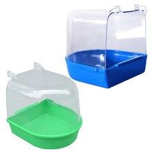 Ванна для воды для домашних животных, птичья клетка, подвесной аксессуар, миска для птиц, ПВХ, птичья клетка, подвесная ванна, маленькая птица