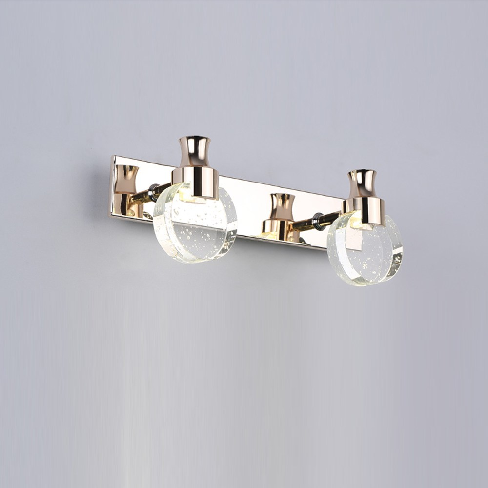 Crystal ledmirror light bubble crystal stainless steel bathroom mirror - Modern Led Bubble Crystal Bathroom Wall Lamp Mirror Front Wall Light Washroom Perfume Bottle Crystal Lampshade Wall Sconces In Wall Lamps From Lights