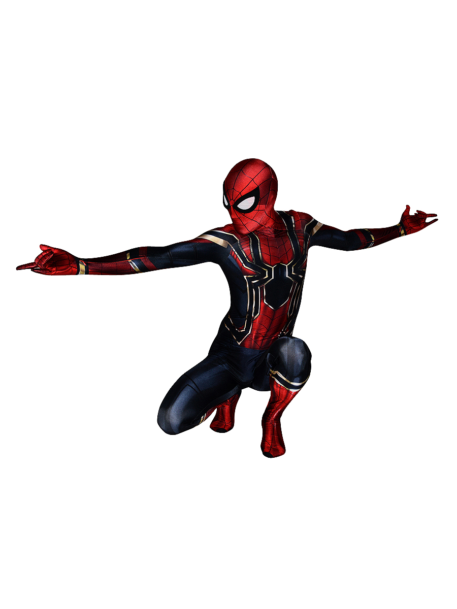 Iron Spider-Man Homecoming Costume Iron Spiderman Cosplay Costume Spandex Movie Homecoming Iron Spider Suit Custom Made for Male
