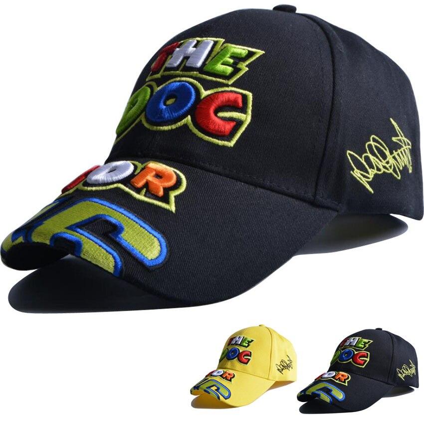 Prix pour LANZOOM 2017 nouvelle broderie VR46 casquette de baseball MotoGP F1 hommes de chapeau de course de voiture moto cap livraison rapide