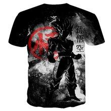 BIANYILONG 2019 new dragon ball t shirt black funny t shirts Dragon Ball Z T Shirts Mens Summer Fashion 3D Print  t-shirt men