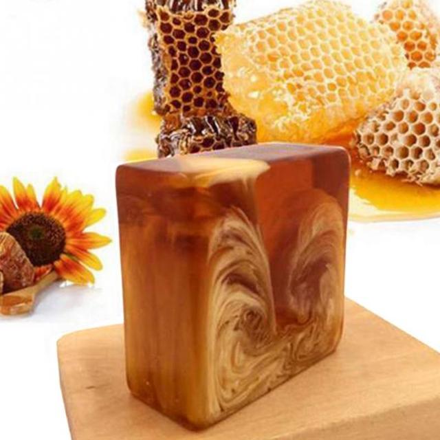 Natural Handmade Honey Soap Propolis Honey Milk Soap Face Care Replenishing Whitening Skin Beauty Bleaching Deep Cleansing Soap