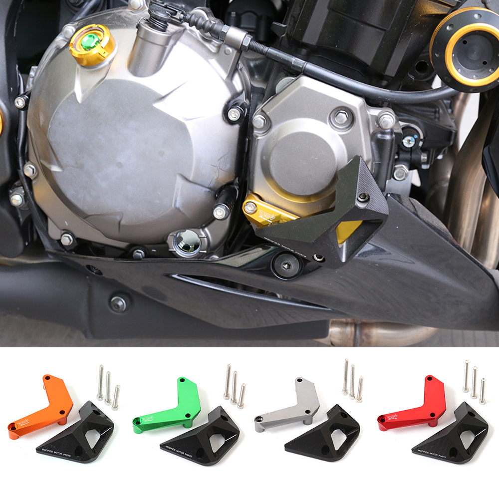 Motorcycle CNC Aluminum Right Engine Case Guard Cover Crash Frame Protector Slider Falling Protection For KAWASAKI Z1000 10-16 bjmoto cnc aluminum motorbike accessaries motorcycle engine guard cover pad for kawasaki z1000 r 2010 2011 2012