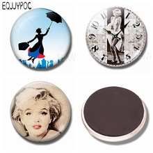 Marilyn Monroe Refrigerator Magnets 30 MM Magnet Fridge Glass Hollywood Actress Classic Movies Magnetic Stickers for Fridge xt xinte pci e 8pin female to 2 port dual pcie 8pin 6 2p male gpu graphics video card power cable cord 18awg wire btc miner