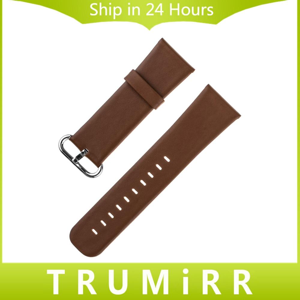 Genuine Leather Watchband 22mm Wide for LG G Watch W100 R W110 Urbne W150 Asus Zenwatch 1 2 22mm Smartwatch Band Strap Bracelet