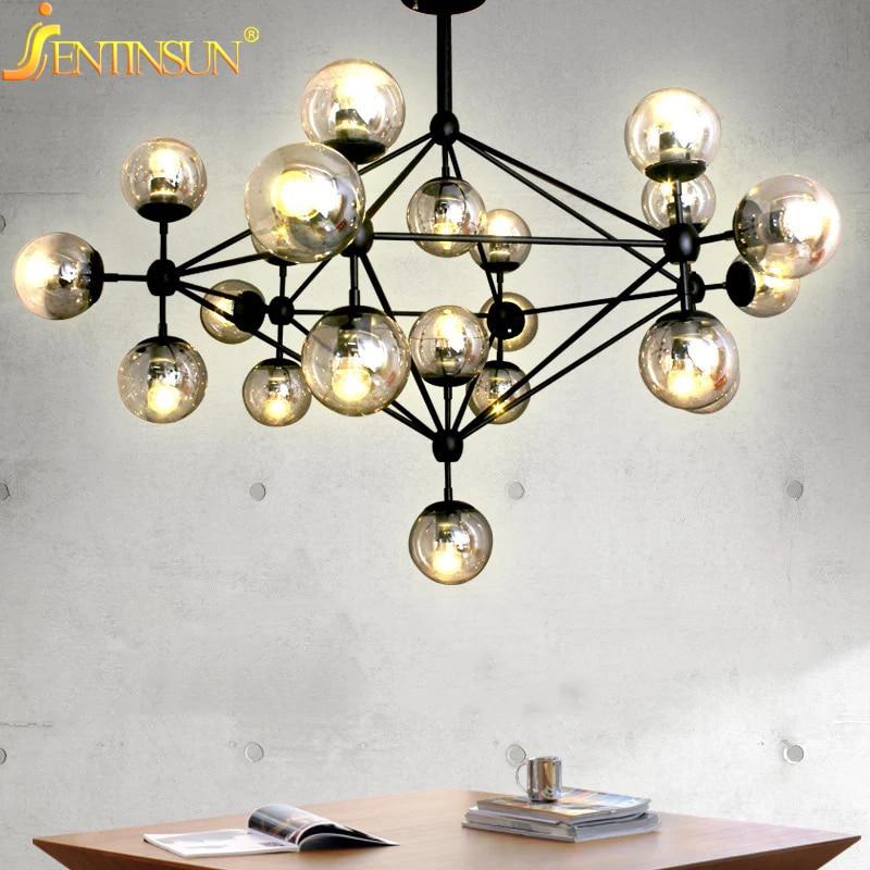 ФОТО 2016 Magic Bean Chandeliers Pendant Lamps AC 110-240V LED DNA Bubble Modern Glass Pendant Light For Living Room Mall Hotel Decor