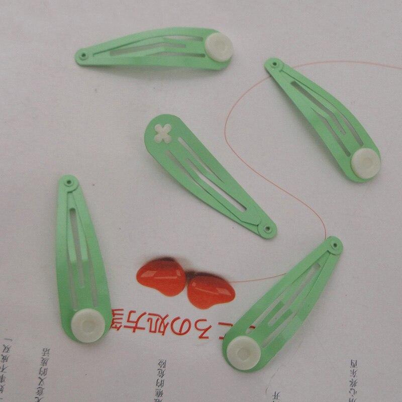 10 шт. 5,0 см металлические заколки для волос DIY детский бант для волос простые заколки без никеля без свинца - Цвет: Mint Green hairpins