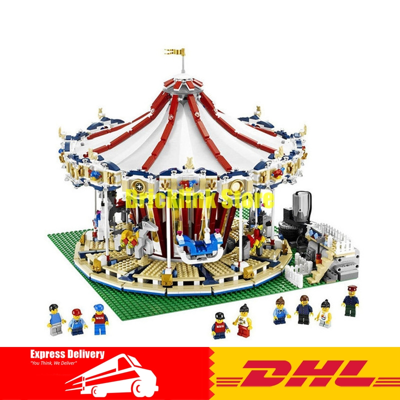 Creator Carousel Model Building LEPIN 15013 3263Pcs City Street Kits Blocks Toys for Children Compatible 10196 Birthday Gift lepin 15013 city sreet carousel model building kits blocks toy compatible 10196 with funny children educational lovely gift toys