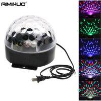 AIMIHUO LED RGB גביש אור שלב אפקט צליל האוטומטי Strobe דיסקו מקלחת מסיבת דיסקו מועדון dj לייזר כדור קסם אור כוכב מנורת