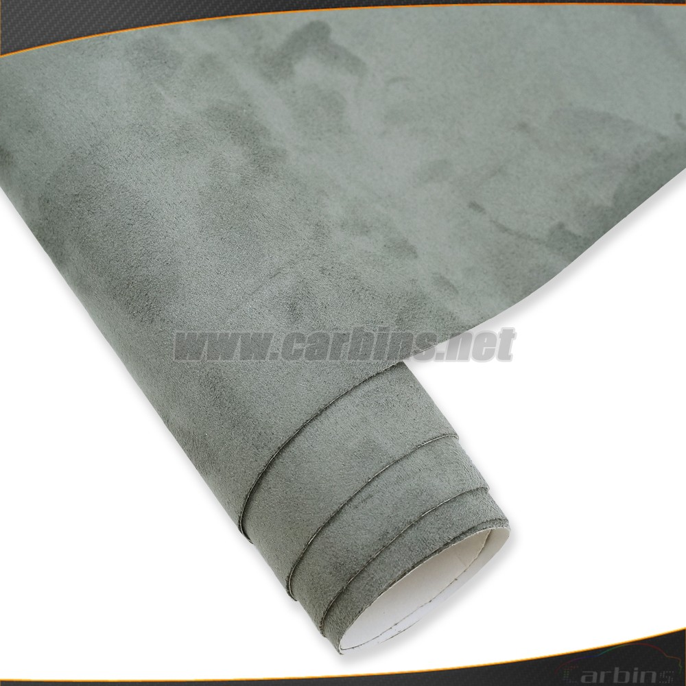 Exclusive listing suede fabric vinyl wrap grey color 1.35*15m small size