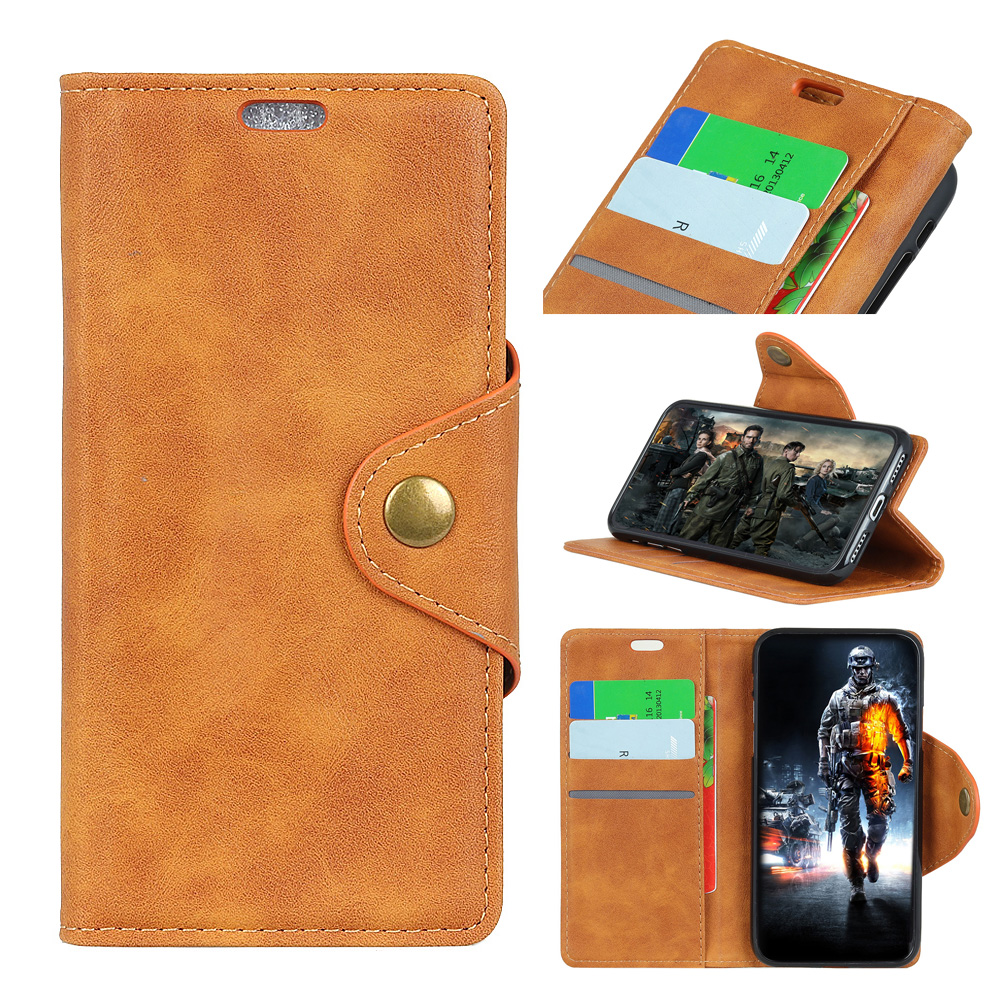 Sheep Stripe Copper Buckle Card Pocket Leather Case For NOKIA 7.1 Flip Cover with Stand