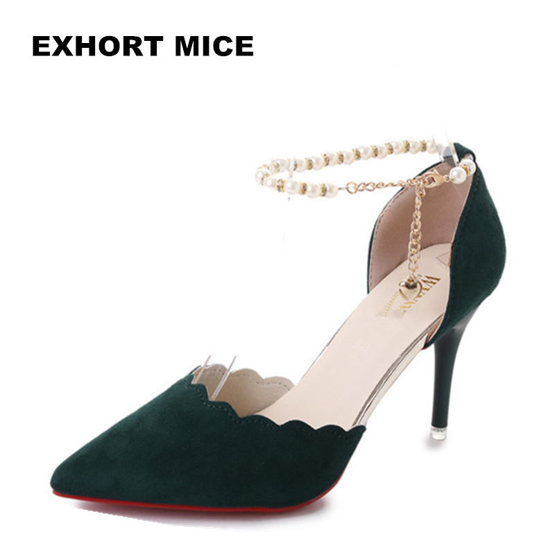 High-Heeled-Shoes Pumps Shoes Women Sexy Female Sandals Fashion Hollow with Breathable