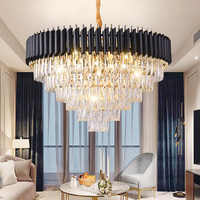 2019 New Arrival Modern Crystal Pendant Lights 220V nordic light lamparas de techo colgante moderna for Living room parlor study
