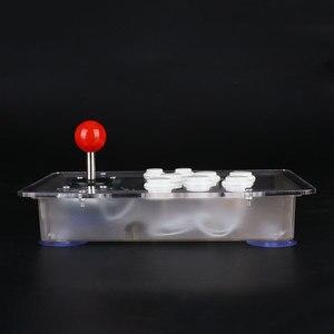 Image 3 - Joystick de arcade acrílico transparente, 8 botões direcionais de jogo de computador com fio usb